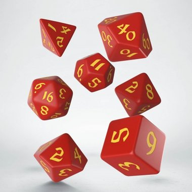 Classic Runic Dice Set Red & Yellow (7)