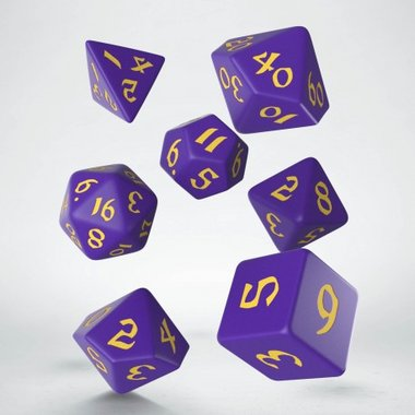 Classic Runic Dice Set Purple & Yellow (7)