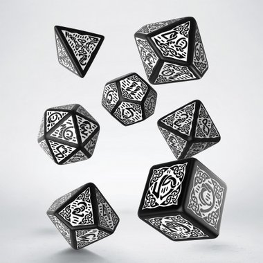 Celtic Dice Set Black & White (7)