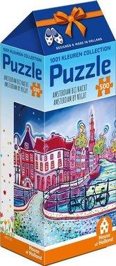 Amsterdam Collection: Amsterdam bij Nacht - Puzzel (500)