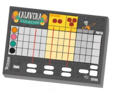 Calavera: Scoreblok