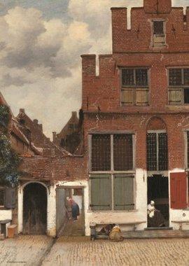 Gezicht op huizen in Delft, bekend als 'Het Straatje' - Puzzel (1000)