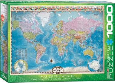 Map of the World - Puzzel (1000)
