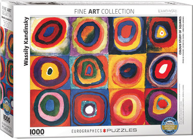 Colour Study of Squares, Wassily Kandinsky - Puzzel (1000)