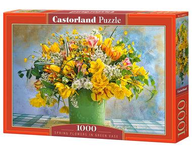 Spring Flowers in Green Vase - Puzzel (1000)