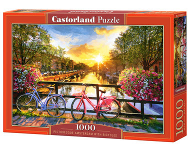 Picturesque Amsterdam with Bicycles - Puzzel (1000)