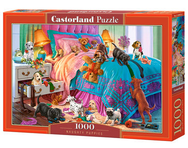 Naughty Puppies - Puzzel (1000)
