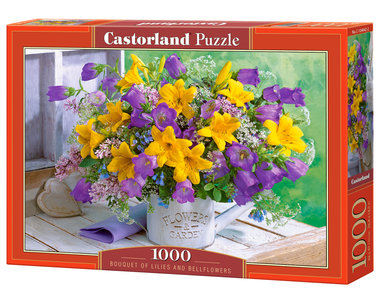 Bouquet of Lilies and Bellflowers - Puzzel (1000)