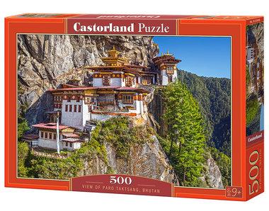 View of Paro Taktsang, Bhutan - Puzzel (500)