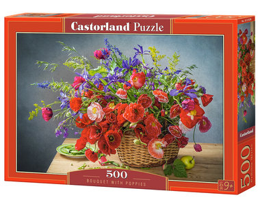 Bouquet with Poppies - Puzzel (500)