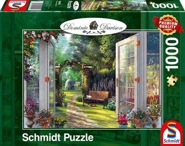 Uitzicht op de droomtuin (Dominic Davison) - Puzzel (1000)