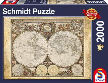 Historische Wereldkaart - Puzzel (2000)