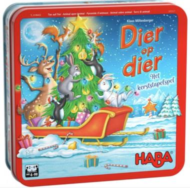 Dier op Dier: Het Kerststapelspel (4+)