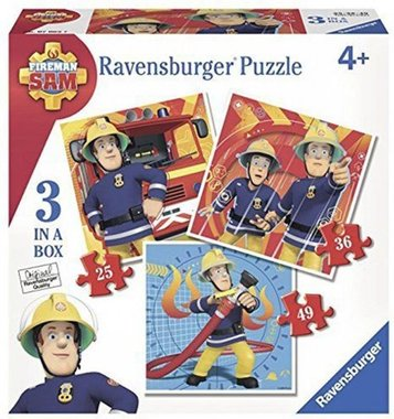 Brandweerman Sam - 3 in a Box Puzzel (25+36+49)