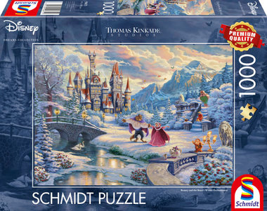 Beauty and the Beast's Winter Enchantment - Puzzel (1000)