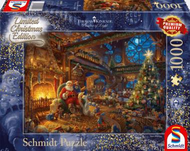 De Kerstman en zijn elfen (Thomas Kinkade) - Puzzel (1000)