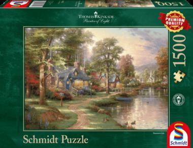 Bij het meer (Thomas Kinkade) - Puzzel (1500)