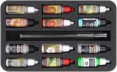 Foam Tray for 12 Color Bottles & Brushes (Feldherr)