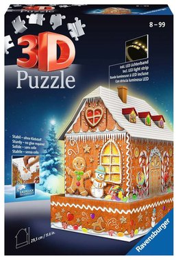 Gingerbread House Night Edition - 3D Puzzel (257)