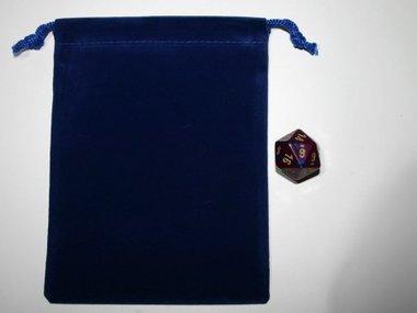 Small Suede-Cloth Dice Bag (Royal Blue)