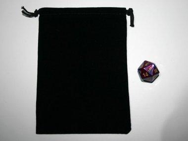 Small Suede-Cloth Dice Bag (Black)