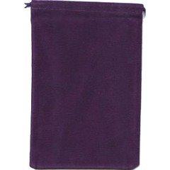 Small Suede-Cloth Dice Bag (Purple)