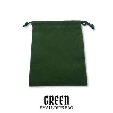 Small Suede-Cloth Dice Bag (Green)