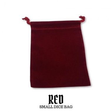 Small Suede-Cloth Dice Bag (Red)
