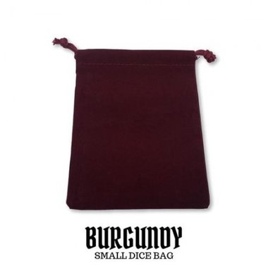 Small Suede-Cloth Dice Bag (Burgundy)