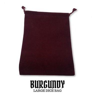 Large Suede-Cloth Dice Bag (Burgundy)