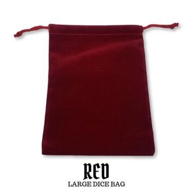 Large Suede-Cloth Dice Bag (Red)