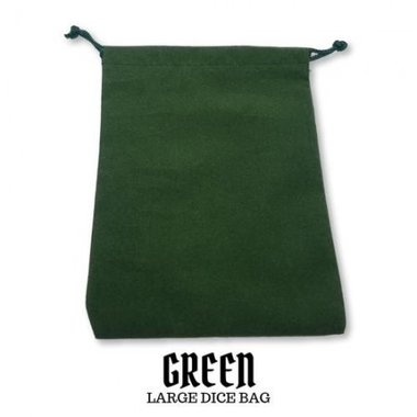 Large Suede-Cloth Dice Bag (Green)