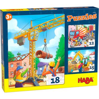 Puzzels: Bouwvoertuigen (3+)