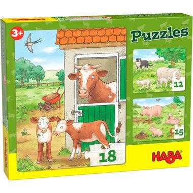 Puzzels: Jonge Boerderijdieren (3+)