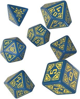 Arcade Dice Set Blue & Yellow (7)