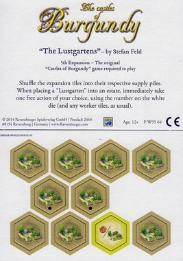 Castles of Burgundy: The 5th Expansion (The Lustgartens)