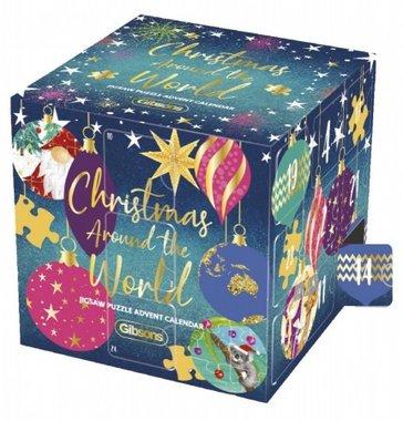 Adventskalender met legpuzzels: Christmas around the World