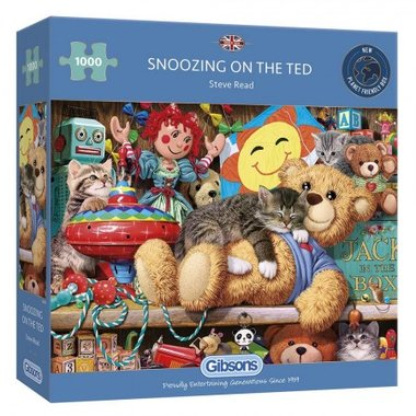 Snoozing on the Ted - Puzzel (1000)