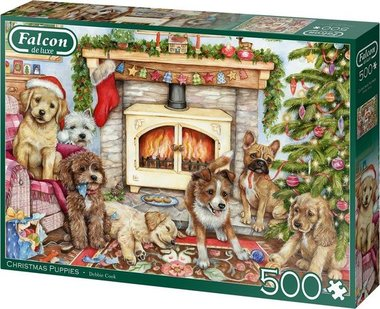 Christmas Puppies - Puzzel (500)