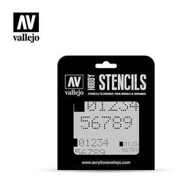 Hobby Stencils: Digital Numbers (Vallejo)
