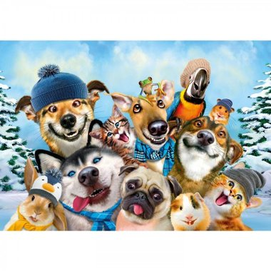 Winter Pet Selfie - Puzzel (40)