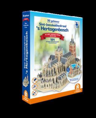 's Hertogenbosch: Sint-Janskathedraal - 3D Puzzel (184)