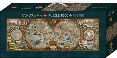 Hemisphere Map - Panorama Puzzel (6000)