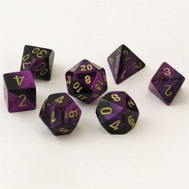 Gemini Black-Purple/Gold Polydice (7)