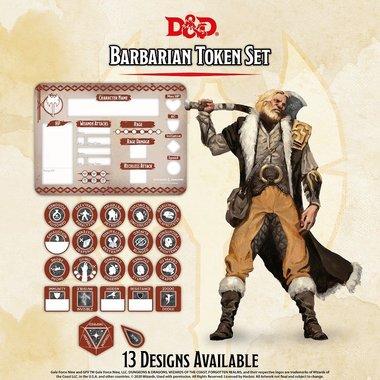 Dungeons & Dragons: Barbarian Token Set