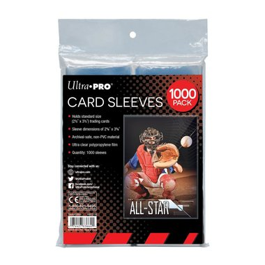 Ultra Pro Card Sleeves: Standard (66x92mm) - 1000 pack