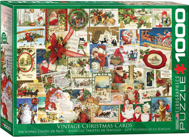 Vintage Christmas Cards - Puzzel (1000)
