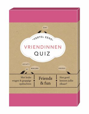 Vertel Eens: Vriendinnen Quiz