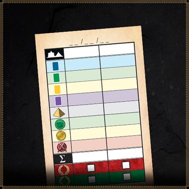7 Wonders Duel: Scorepad