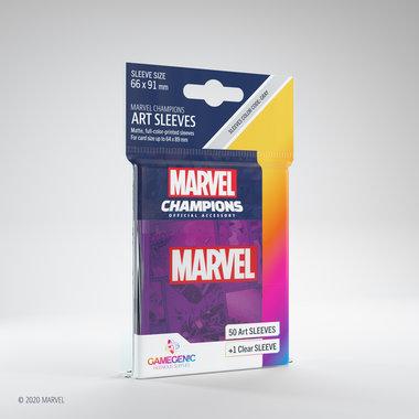 Gamegenic Marvel Champions Art Sleeves: Purple (66x91mm) - 50+1